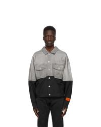Heron Preston Black And Grey Trucker Jacket