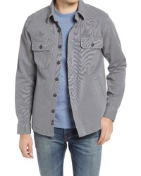 Faherty Cpo Unlined Stretch Cotton Shirt Jacket