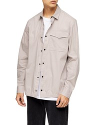 Topman Papertouch Snap Up Overshirt