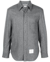 Thom Browne Rwb Stripe Cashmere Overshirt