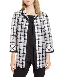Ming Wang Windowpane Check Jacket