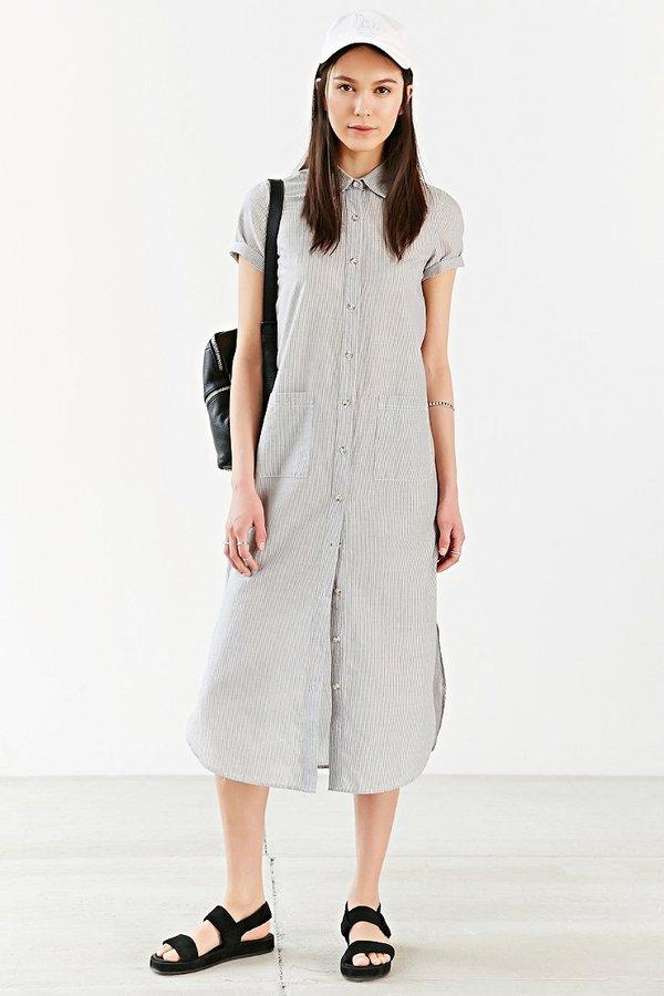 Fonkelnieuw BDG Voile Maxi Shirt Dress, $79 | Urban Outfitters | Lookastic.com XD-91