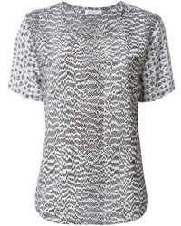 Grey short sleeve blouse original 1292271