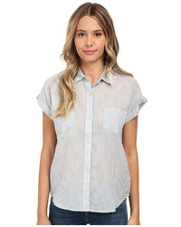 Grey short sleeve button down shirt original 9838805