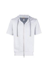 Grey Short Sleeve Hoodie