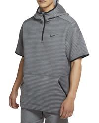 Nike Pro Hooded Half Zip Spacer Knit Shirt
