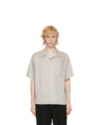 N. Hoolywood Grey Elongated Revere Collar Shirt