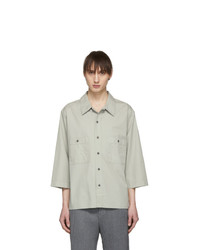 Lemaire Grey Military Three Quarter Sleeve Shirt