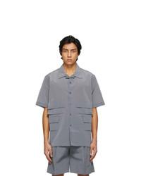 Givenchy Grey Multipocket Short Sleeve Shirt