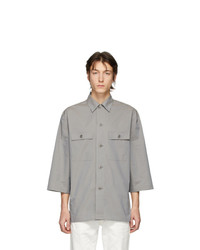 Lemaire Grey Poplin Tropical Shirt