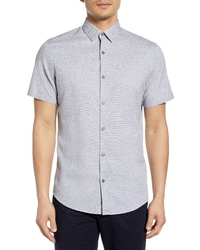 Calibrate Jacquard Short Sleeve Button Up Shirt