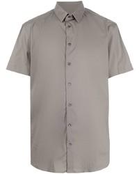 Giorgio Armani Short Sleeve Cotton Blend Shirt