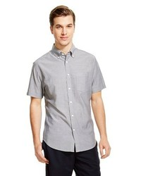 Merona Short Sleeve Shirt Gray Tm