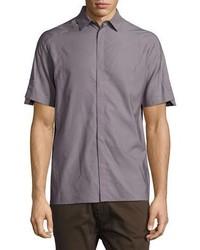 Helmut Lang Short Sleeve Sport Shirt Gray