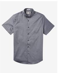 Express Slim Solid Short Sleeve Oxford 1mx Dress Shirt