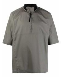Salvatore Ferragamo Sporty Zip Up Shirt