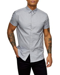 Topman Stretch Skinny Fit Oxford Shirt