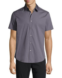 Theory Sylvain S Wealth Short Sleeve Shirt