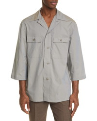 Lemaire Tropical Cotton Poplin Short Sleeve Button Up Shirt