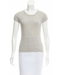 Barneys New York Barneys New York Short Sleeve Cashmere Sweater
