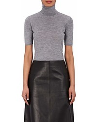 Barneys New York Cashmere Silk Short Sleeve Sweater