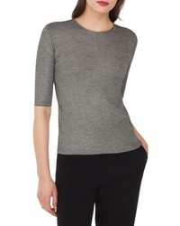 Akris Elbow Sleeve Silk Wool Sweater