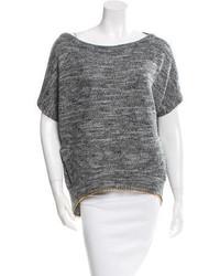 Diane von Furstenberg Embellished Short Sleeve Sweater