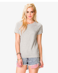 Forever 21 French Terry Short Sleeve Pullover