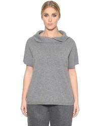Marina Rinaldi Short Sleeve Wool Cashmere Sweater