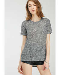 Forever 21 Marled Rib Knit Tee