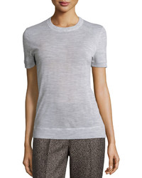 Michael Kors Michl Kors Collection Cashmere Short Sleeve Tee Pearl Gray