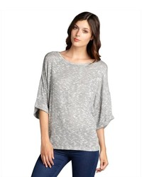 Nation Ltd. Nation Ltd Espresso Stretch Knit Helena Short Sleeve Sweater