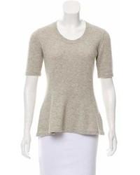 Burberry Short Sleeve Cashmere Sweater