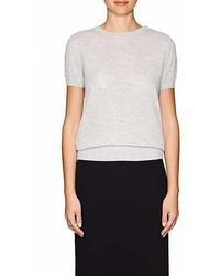 The Row Tati Cashmere Silk Short Sleeve Sweater