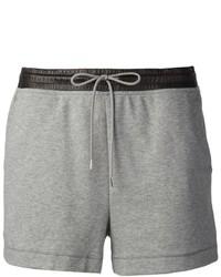 Alexander Wang T By Lambskin Waist Sweat Shorts