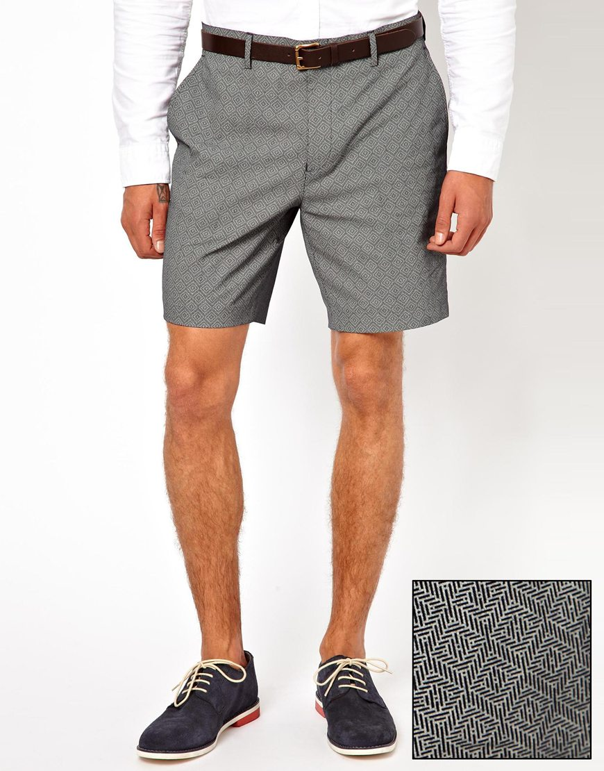 Mens Grey Dress Shorts - The Else