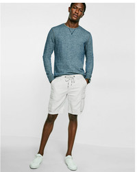 Express Classic Fit 10 Inch Linen Cotton Cargo Shorts