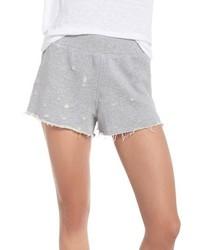 David Lerner Distressed Lounge Shorts