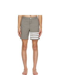 Thom Browne Grey 4 Bar Swim Shorts