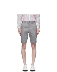 Thom Browne Grey Unconstructed Chino Shorts