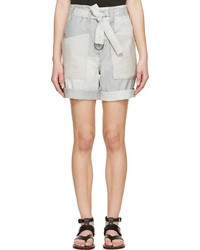 Isabel Marant Grey Verna Patchwork Shorts