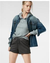 Express High Waisted Terry Cloth Girlfriend Shorts