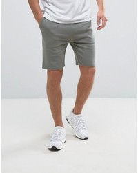 Asos Jersey Skinny Shorts In Light Khaki