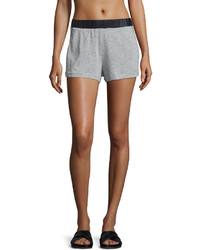 Koral Activewear Tap Speckled Print Shorts Heather Grayblack