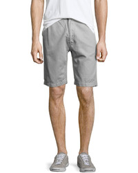 7 For All Mankind Linen Cotton Flat Front Chino Shorts Light Gray
