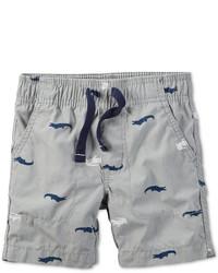 Carter's Little Boys Gator Print Pull On Shorts