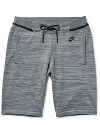 Nike Mlange Tech Knit Cotton Blend Shorts