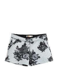 MSGM Floral Bonded Jersey Neoprene Shorts