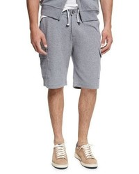 Brunello Cucinelli Spa Cargo Sweat Shorts Medium Gray