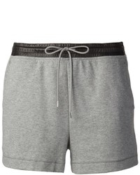 Alexander Wang T By Lambskin Waist Sweat Shorts